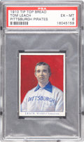 Baseball Cards:Singles (Pre-1930), 1910 D322 Tip-Top Bread Tommy Leach PSA EX-MT 6. ...