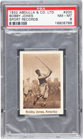 """Golf Cards:General, 1932 Abdulla & Co. """"Sports Records"""" Bobby Jones #200 PSA NM-MT 8 - Pop Two With None Higher! ..."""