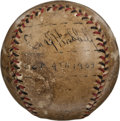 Baseball Collectibles:Balls, Mel Ott and Carl Hubbell Multi Signed Baseball, Attributed to Game 2 of the 1933 World Series....