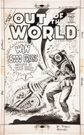 Original Comic Art:Covers, Steve Ditko Out of This World #12 Cover Original Art(Charlton, 1959)....