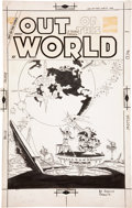 Original Comic Art:Covers, Steve Ditko Out of This World #11 Cover Original Art(Charlton, 1959)....