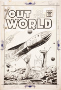 Original Comic Art:Covers, Out of This World #1 Cover Original Art (Charlton, 1956)....