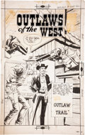 Original Comic Art:Covers, Dick Giordano Outlaws of the West #22 Cover Original Art(Charlton, 1959)....