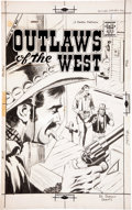 Original Comic Art:Covers, Dick Giordano Outlaws of the West #18 Cover Original Art(Charlton, 1959)....