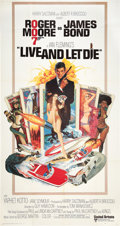 """Movie Posters:James Bond, Live and Let Die (United Artists, 1973). Three Sheet (41"""" X 81"""")....."""