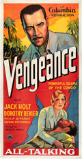 "Movie Posters:Adventure, Vengeance (Columbia, 1930). Three Sheet (41"" X 81"").. ..."