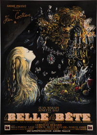 "Beauty and the Beast (DisCina, 1946). French Grande (47"" X 63"")"