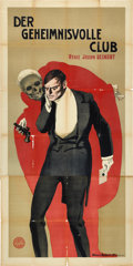 "Movie Posters:Mystery, The Suicide Club (Eiko Film, 1913). German Three Sheet (43"" X88"").. ..."