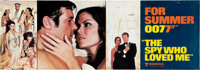 """The Spy Who Loved Me (United Artists, 1977) Set of Four Banners (21"""" X 59"""") Advance. ... (Total: 4 Items)"""