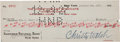 Autographs:Checks, 1927 Babe Ruth & Christy Walsh Signed Check--Two RuthSignatures....