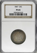 Proof Seated Quarters, 1867 25C PR65 NGC....