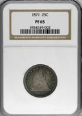 Proof Seated Quarters, 1871 25C PR65 NGC....