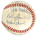 Autographs:Baseballs, 1949-50 CCNY Team Signed Baseball. Signed at the 5th annual NYCBasketball Hall of Fame induction dinner, this great orb fe...