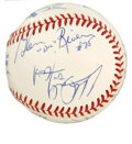 Autographs:Baseballs, 1992-93 New York Knicks Team Signed Baseball. A total of 12 membersof the 1992-93 New York Knicks have checked on the OAL ...