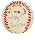 Autographs:Baseballs, 1993 Georgia Tech Basketball Team Signed Baseball. Signed at a 1993game played at Madison Square Garden, this ONL (White) ...