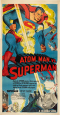 "Movie Posters:Serial, Atom Man vs. Superman (Columbia, 1950). Three Sheet (41"" X 81"")....."
