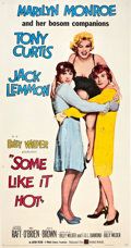"Movie Posters:Comedy, Some Like It Hot (United Artists, 1959). Three Sheet (41"" X 81"")....."