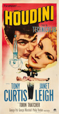 "Movie Posters:Drama, Houdini (Paramount, 1953). Three Sheet (41"" X 81"").. ..."