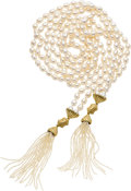 Estate Jewelry:Pearls, Freshwater Cultured Pearl, Seed Pearl, Gold Necklace, Slane & Slane. ...