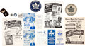 Hockey Collectibles:Others, 1945-47 Quaker Oats Bantam Hockey Club Premiums and Advertisements Lot....