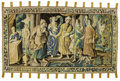 Decorative Arts, Continental:Other , A FLEMISH TAPESTRY . Unknown maker, circa 1850. Unmarked. 103-1/2 x174-1/2 inches (262.9 x 443.2 cm). ...
