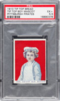 """Baseball Cards:Singles (Pre-1930), 1910 D322 Tip Top Bread """"The Tip-Top Boy Mascot"""" PSA EX+ 5.5 - Pop One, Highest Graded Example! ..."""