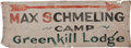 Boxing Collectibles:Memorabilia, 1932 Max Schmeling Training Camp Banner....