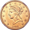 Liberty Eagles, 1839 $10 Type of 1838, Large Letters--Improperly Cleaned--NGCDetails. AU....