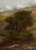 Paintings, EDWARD G. EISENLOHR (American, 1872-1961). Mountain Landscape. Oil on artist's board. 7 x 5 inches (17.8 x 12.7 cm). Sig...