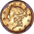 California Fractional Gold, 1853 50C Liberty Round 50 Cents, BG-416, Low R.7, MS64 NGC....