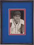 Autographs:Photos, 1944 Jimmie Foxx Signed Photograph by George Burke....