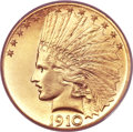 Indian Eagles, 1910-S $10 MS64 PCGS. CAC....