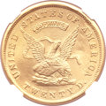 Territorial Gold, 1853 $20 Assay Office Twenty Dollar, 900 THOUS.--Repaired--NGC Details. AU. K-18, R.2....