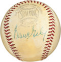Autographs:Baseballs, 1960's Warren Giles Signed Baseball....