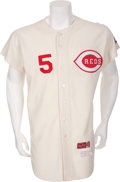 Baseball Collectibles:Uniforms, 1969 Johnny Bench Game Issued Cincinnati Reds Jersey....