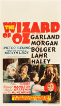 "Movie Posters:Fantasy, The Wizard of Oz (MGM, 1939). Midget Window Card (8"" X 14"").. ..."