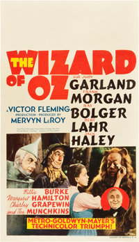 "The Wizard of Oz (MGM, 1939). Midget Window Card (8"" X 14"")"