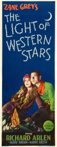 "Movie Posters:Western, The Light of Western Stars (Paramount, 1930). Insert (14"" X 36"")....."