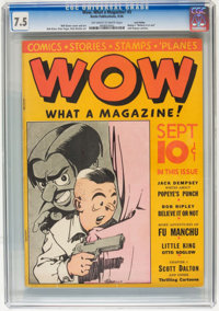 Wow Comics #3 - Lost Valley pedigree (Henle, 1936) CGC VF- 7.5 OFF-WHITE TO WHITE pages
