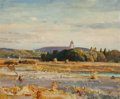 Fine Art - Painting, European:Modern  (1900 1949)  , RICHARD JACK (British, 1866-1952). View of Montreal . Oil on board . 19-3/4 x 23-3/4 inches (50.2 x 60.3 cm). Signed low...