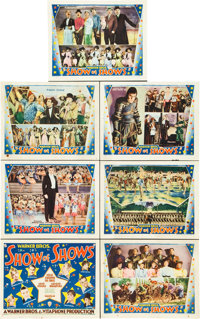 """Show of Shows (Warner Brothers, 1929). Title Lobby Card and Lobby Cards (6) (11"""" X 14""""). ... (Total: 7 Items)"""