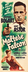 "Movie Posters:Film Noir, The Maltese Falcon (Warner Brothers, 1941). Insert (14"" X 36"")....."