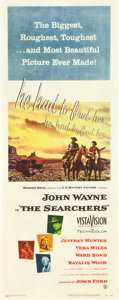 "Movie Posters:Western, The Searchers (Warner Brothers, 1956). Insert (14"" X 36"").. ..."
