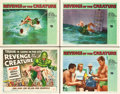 "Movie Posters:Horror, Revenge of the Creature (Universal International, 1955). TitleLobby Card and Lobby Cards (3) (11"" X 14"").. ... (Total: 4 Items)"