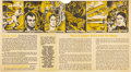 """Baseball Cards:Singles (1930-1939), 1930's D146 Doughnut Co. of America """"Thrilling Moments..."""" Uncut Two-Panel Partial Box With Babe Ruth...."""