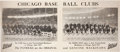 Baseball Collectibles:Others, 1917 Chicago Cubs & White Sox Advertising Sign....