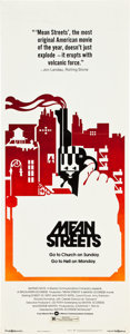 "Movie Posters:Crime, Mean Streets (Warner Brothers, 1973). Insert (14"" X 36"").. ..."