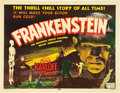 "Movie Posters:Horror, Frankenstein (Realart, R-1951). Half Sheet (22"" X 28"").. ..."