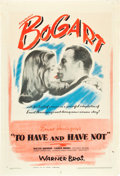 "Movie Posters:Romance, To Have and Have Not (Warner Brothers, 1944). One Sheet (27"" X 41"").. ..."