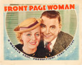 """Movie Posters:Drama, Front Page Woman (Warner Brothers, 1935). Lobby Card (11"""" X 14"""")....."""